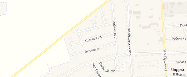 Степная улица на карте Зеи с номерами домов