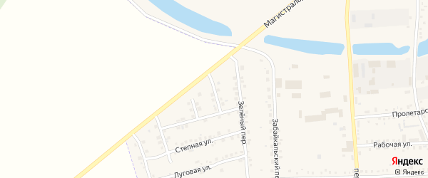Круговой переулок на карте Зеи с номерами домов