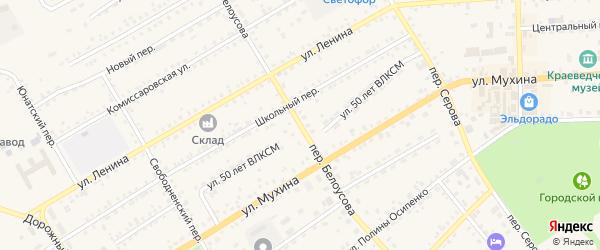Переулок Белоусова на карте Зеи с номерами домов