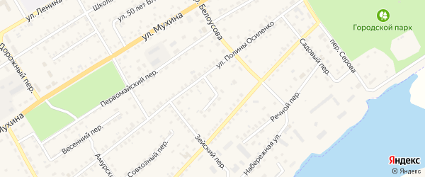 Гилюйский переулок на карте Зеи с номерами домов