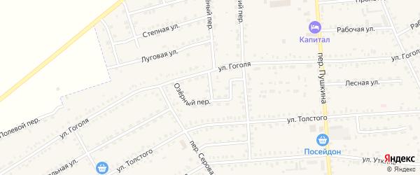 Озерный переулок на карте Зеи с номерами домов