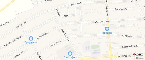 Звездный переулок на карте Зеи с номерами домов