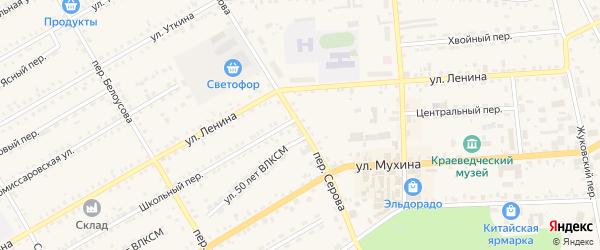 Переулок Серова на карте Зеи с номерами домов