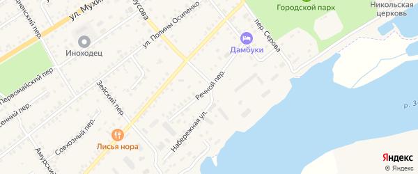 Речной переулок на карте Зеи с номерами домов