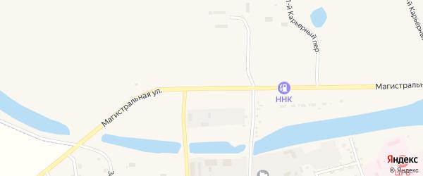 Магистральная улица на карте Зеи с номерами домов