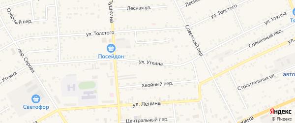 Улица Уткина на карте Зеи с номерами домов