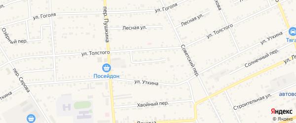 Сосновый переулок на карте Зеи с номерами домов