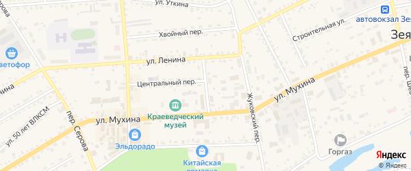Пионерский переулок на карте Зеи с номерами домов