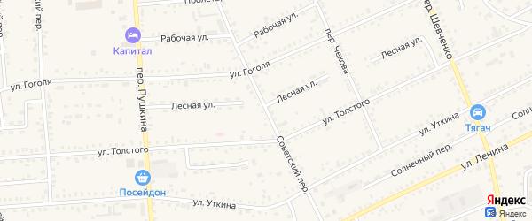 Советский переулок на карте Зеи с номерами домов