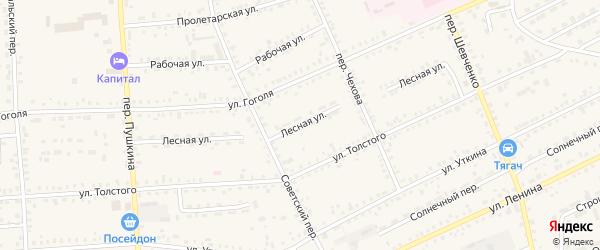 Лесная улица на карте Зеи с номерами домов