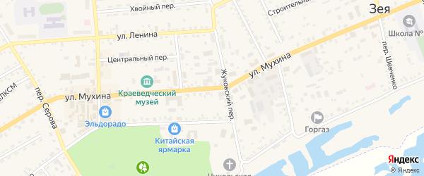 Улица Мухина на карте Зеи с номерами домов