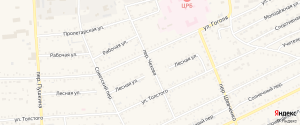 Переулок Чехова на карте Зеи с номерами домов