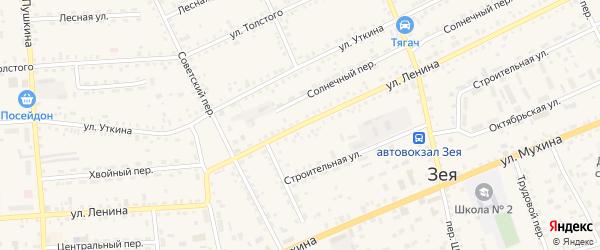 Улица Ленина на карте Зеи с номерами домов