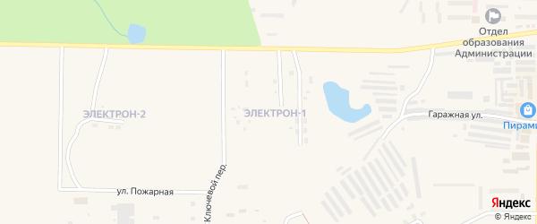 Микрорайон Электрон-1 на карте Зеи с номерами домов