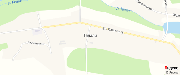 Улица Калинина на карте села Талалей с номерами домов