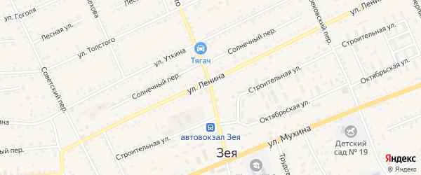 Переулок Шевченко на карте Зеи с номерами домов