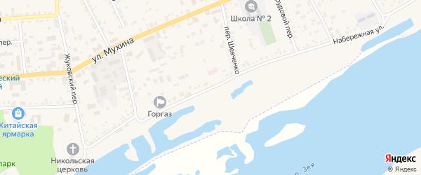 Набережная улица на карте села Заречной Слободы с номерами домов