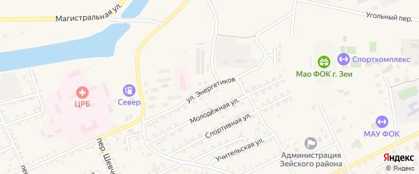 Улица Энергетиков на карте Зеи с номерами домов