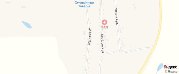 Трудовая улица на карте села Заречной Слободы с номерами домов