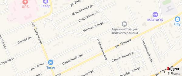 Грековский переулок на карте Зеи с номерами домов