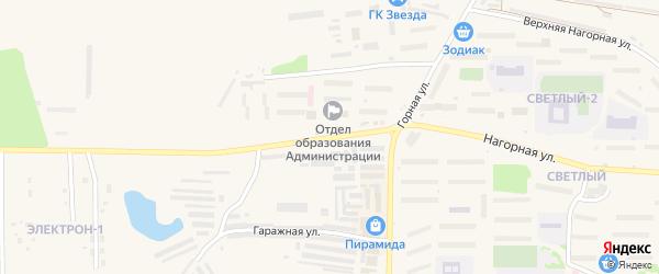 Проспект 40-летия Победы на карте Зеи с номерами домов