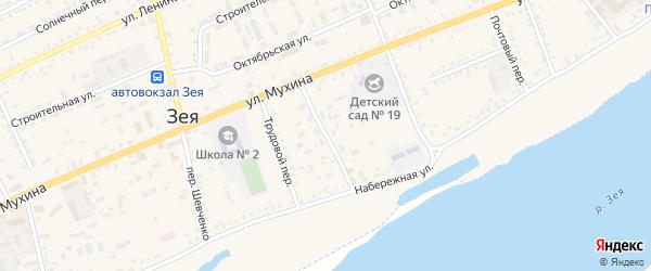 Улица Зеленая Роща на карте Зеи с номерами домов