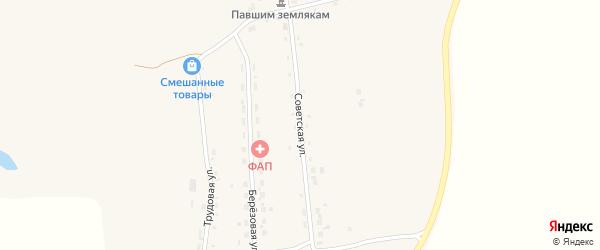Советская улица на карте села Заречной Слободы с номерами домов