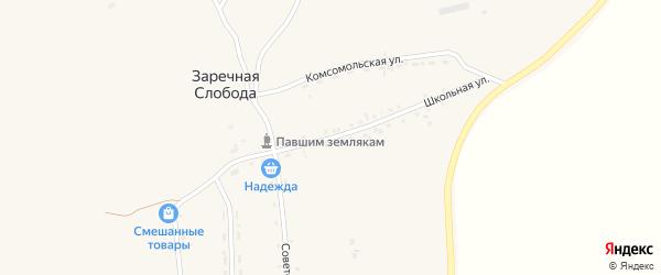 Школьная улица на карте села Заречной Слободы с номерами домов