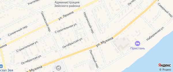 Октябрьская улица на карте Зеи с номерами домов