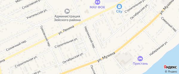 Нерпинский переулок на карте Зеи с номерами домов