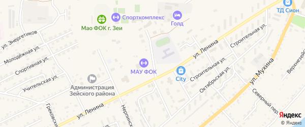 Народная улица на карте Зеи с номерами домов