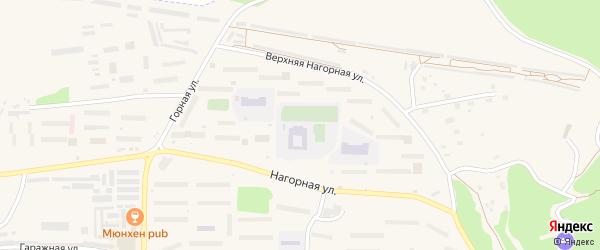 Таежный 2-й микрорайон на карте Зеи с номерами домов