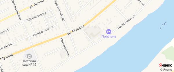 Лаврушинский переулок на карте Зеи с номерами домов
