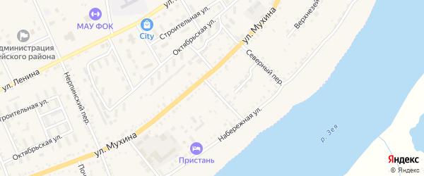 Мариновский переулок на карте Зеи с номерами домов