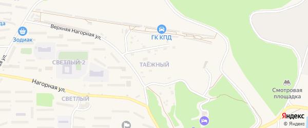 Таежный 1-й микрорайон на карте Зеи с номерами домов