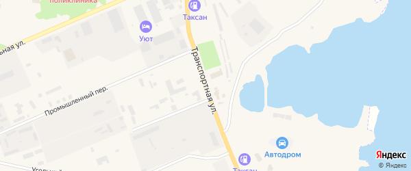 Транспортная улица на карте Зеи с номерами домов