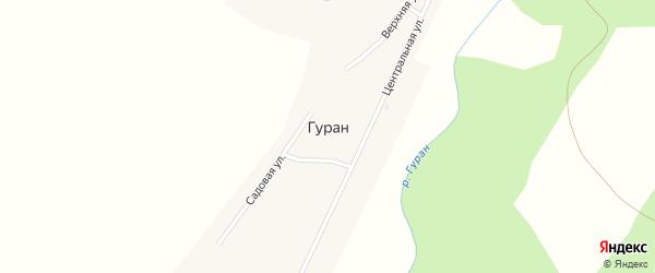 Садовая улица на карте села Гурана с номерами домов