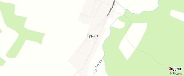 Карта села Гурана в Амурской области с улицами и номерами домов
