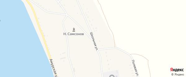 Школьная улица на карте села Сергеевки с номерами домов