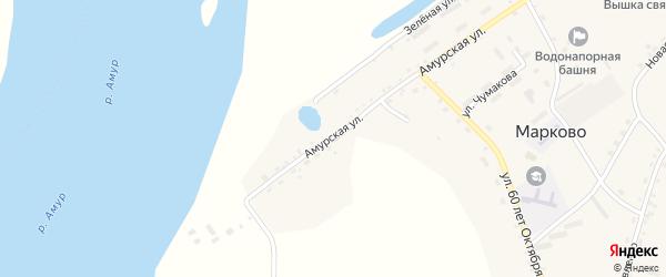 Амурская улица на карте села Марково с номерами домов