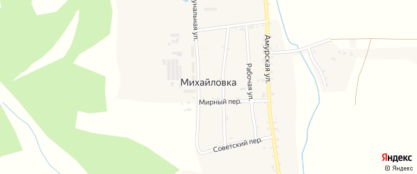 Коммунальная улица на карте села Михайловки с номерами домов