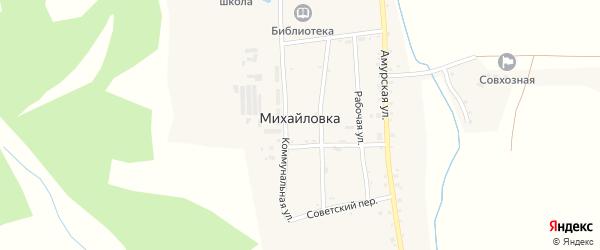 Амурская улица на карте села Михайловки с номерами домов