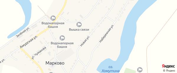 Новая улица на карте села Марково с номерами домов