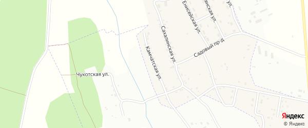 Камчатская улица на карте Нового поселка с номерами домов