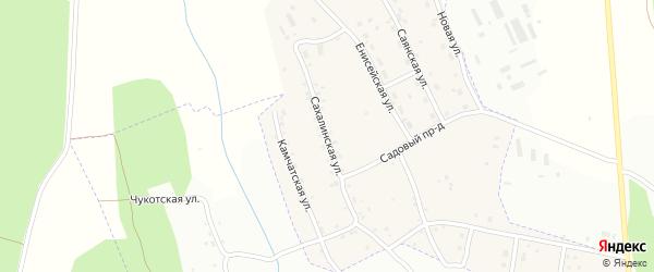 Сахалинская улица на карте села Игнатьево с номерами домов