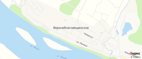 СТ Садоводческое товарищество пограничник-2 на карте Верхнеблаговещенского села с номерами домов