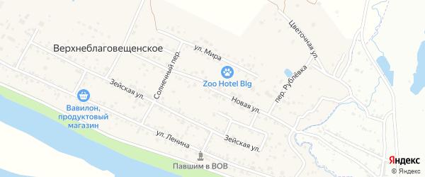 Новая улица на карте Верхнеблаговещенского села с номерами домов