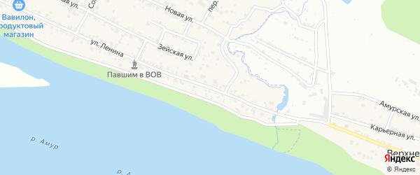 Улица Ленина на карте Верхнеблаговещенского села с номерами домов