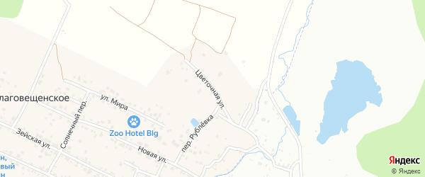 Цветочная улица на карте Верхнеблаговещенского села с номерами домов