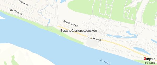 Карта Верхнеблаговещенского села города Благовещенска в Амурской области с улицами и номерами домов